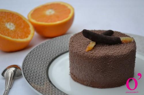 Entremet aux deux chocolats et à l'orange