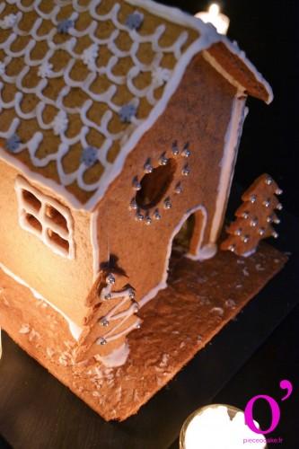 Maison de Noël en pain d'épices