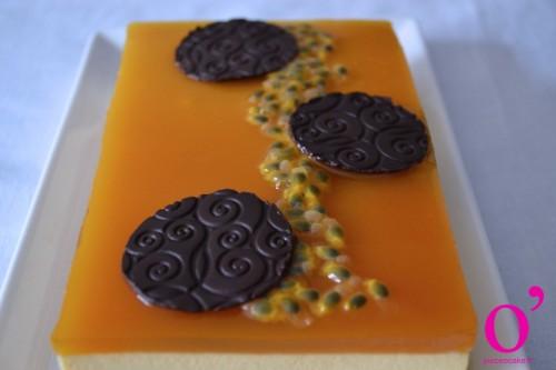 Entremet passion-chocolat