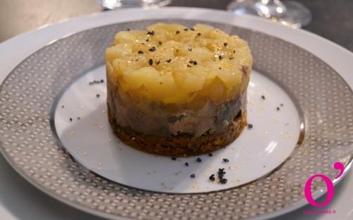 Foie gras sur lit de pain d pices et compot e de pommes for Chutney de pommes pour foie gras