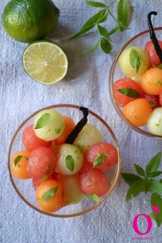 Salade fraîcheur aux melons