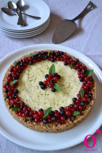Tarte façon cheesecake au citron vert et fruits frais