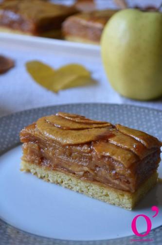 Pommes façon tatin sur sablé breton