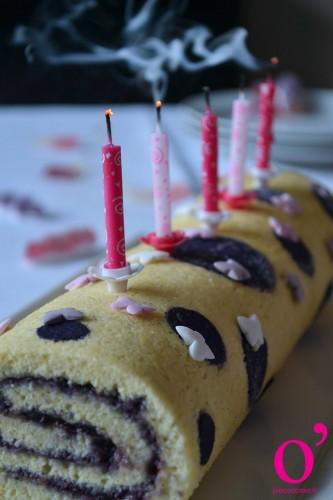 Gâteau roulé à motifs