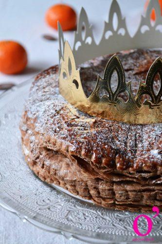 Galette des rois au chocolat et zestes d'orange