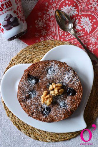 Brownie aux noix et cerises amarena